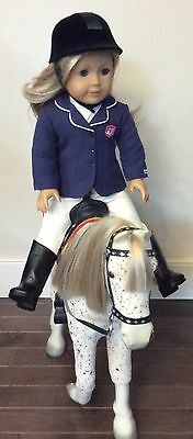 American girl doll, blonde hair, blue eyes plus Picasso Horse 2013 discontinued