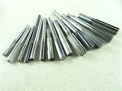 """Lot Of 14 Hss Chucking Reamers 3/8"""" To 7/8"""""""