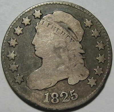 = 1825 VG+ BUST Dime, Nice Color & EYE Appeal, FREE Shipping