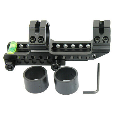 """PEPR Cantilever 1"""" to 30mm Rifle Scope Mount w/ Bubble Level for Picatinny Rails"""