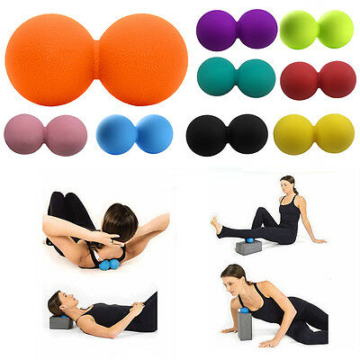 Peanut Lacrosse Massage Ball Trigger Point Yoga Therapy Myofascial Release Tools
