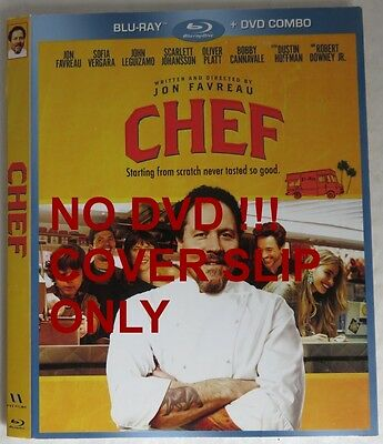 No Discs !! Chef Blu-Ray Cover Slip Only - No Discs !!      (Inv13480)