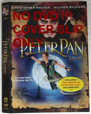 No Discs !! Peter Pan Live Dvd Cover Slip Only - No Discs !!      (Inv13482)