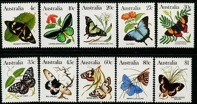 Australia 1983 Butterflies set of 10 MNH