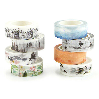 Plant Mountain Floral Washi Tape DIY Paper Adhesive Sticky Masking Tapes Decor
