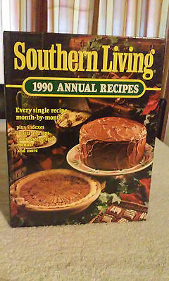 Southern Living 1990 Annual Recipes Cookbook Hardcover Cooking Cook Book