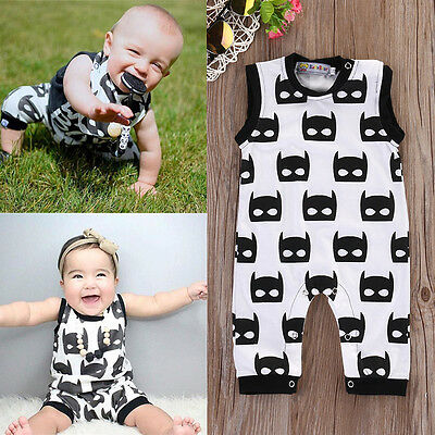 Newborn Infant Baby Boy Girl Sleeveless Romper Jumpsuit Bodysuit Clothes Outfit