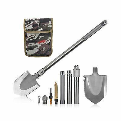 OYISIYI Portable Folding Shovel Pick with Carrying Pouch Tactical Shovel Tren...