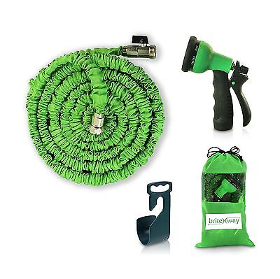 Expendable Garden Hose - 50 Ft Retractable Lightweight & Flexible - 8 Pattern...