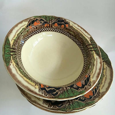 Myott Son & Co Hanley England's Countryside Rimmed Bowl Set of Three (3)