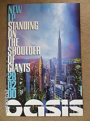 Oasis Standing On The Shoulder Of Giants Original 2000  Promo Poster.