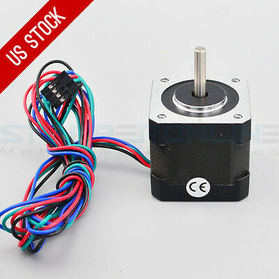 Nema 17 Step Motor 64oz.in 2.0A 1m Cable & Connector DIY CNC Robot 3D Printer