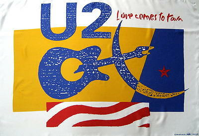 U 2 / U2 Flagge Fahne Posterflagge When Love Comes To Town