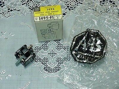 Allen Bradley 1495-F1 Normally Open Contact Sizes 0 Thru 5 Series L NEW IN BOX!