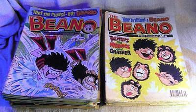 Vintage Bunch x80 BEANO Comics Various Years from 1995-2001 (Bulk of are 1990s)