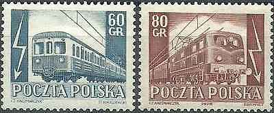 Timbres Trains Pologne 739/40 * lot 1688