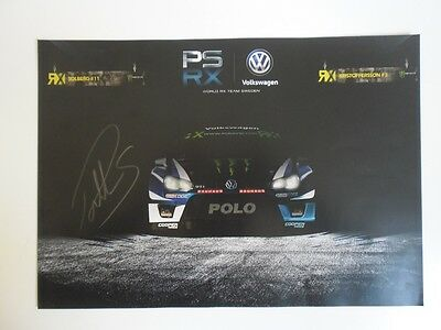 2017 VW VOLKSWAGON WRX WRC CHAMPION SIGNED PROMO POSTER PETTER SOLBERG 29x42cm