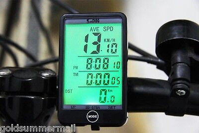 SD-576A Wired Bicycle Bike Cycling LCD Computer Speedometer Waterproof Backlight