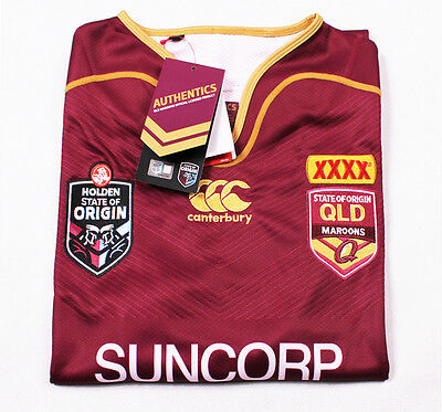 Authentic Queensland State of Origin Mens On Filed Jersey 2017 Size 2XL