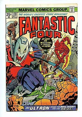 Fantastic Four #150 Crystal & Quicksilver's Wedding - Marvel BRONZE AGE 1974 VFN