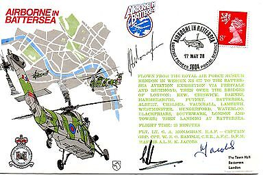 Gb 1978 Raf Cover  Airborne In Battersea - Signed