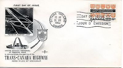 CANADA 1962 FDC Trans Canada Highway 4859 miles of grandeur, at Rogers Pass