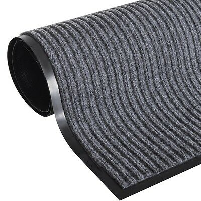 S# Door Mat 90x120cm Floor Area Rug Non-skid Grey Indoor Entrance Matting Carpet