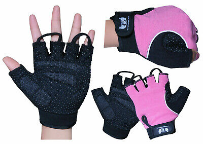 Ladies Weight Lifting Gym Gloves Workout Women Gel Training Fitness Cycling Pink