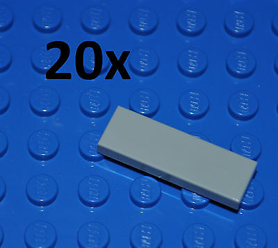 Lego Parts- 20X Light Bluish Grey Tiles 1X3 Studs/flat Smooth Building Pcs/63864