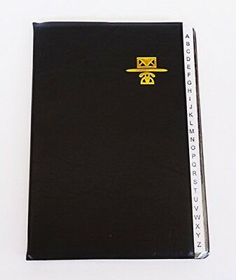 Phone and Address Book Large Size 5 x 7 inch Alphabetical Faux Leather Cover