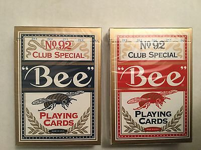 BEE - (Gold Asian Edition) Playing Cards (Blue & Red 2-Deck Set)   - Bicycle
