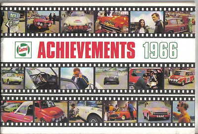 Castrol Achievements 1966 Racing + Rallying successes Car Motorcycle Red Arrows