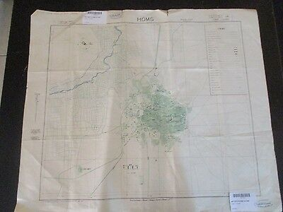 HOMS : AN OLD MILITARY FRENCH MAP, 1:10000 SCALE,ISSUED by F.F.L,1945. VBOK203