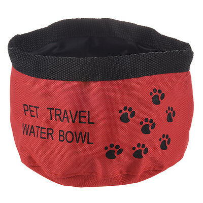 """SS 8"""" Fold Up Travel Dog Water Dring Bowl"""