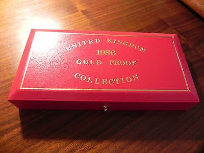 UK Gold PROOF 1986 Sovereign Coins Set Double Full Half Scottish Thistle Box COA
