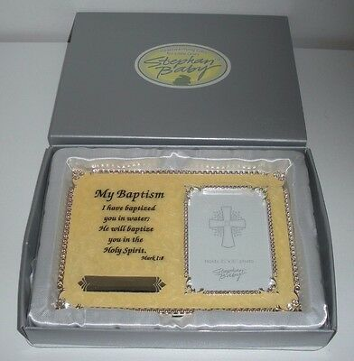 Stephan Baby, My Baptism Picture Frame (New in Box) Holds 2-1/2 X 3-1/2 Photo
