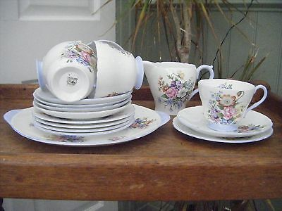 Vintage Shelley Wild Flowers 17 piece Tea Set