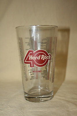 HARD ROCK CAFE 40th ANNIVERSARY BEER GLASS MINT 6513