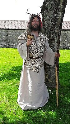 mage, wizard, druid, cleric complete outfit, brown, freesize, Larp,  fantasy
