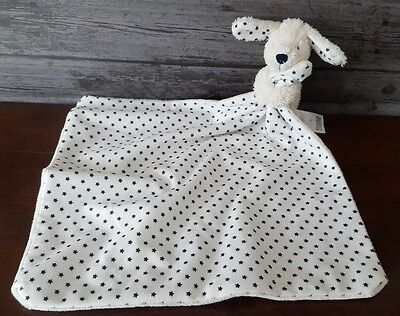 Marks And Spencer Blue Star Puppy Dog Stars Comfort Blanket Baby Comforter M&S