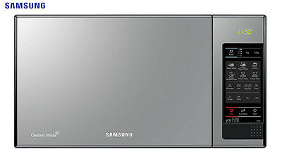 SAMSUNG GE83X Black glass Mirror Microwave + Grill 23L, 800-1100W Brand New!!!