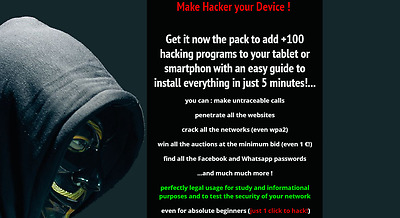 Turn Your Tablet Or Smartphone Into An Hacker Tool With Guide And +100 Apps!!!