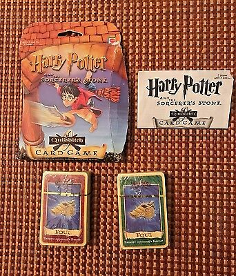Harry Potter And The Sorcerer's Stone Quidditch Trading Card Game Mattel 2001