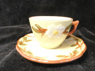 Stangl White Dogwood Cup And Saucer