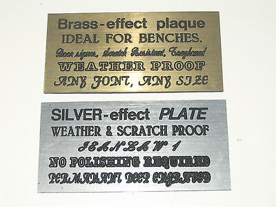Engraved Memorial Plaque, Door Sign, Bench Plate, Free Engraving