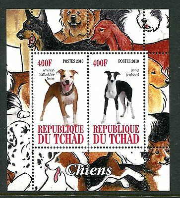 Chad 2010 Dogs I 2v MS  MNH