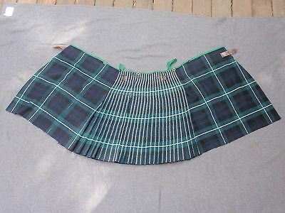 LIVERPOOL SCOTTISH FORBES Tartan Regimental Kilt-Woven Wool - Broad arrow 1953
