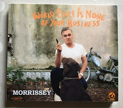 Morrissey World Peace Is Not Your Business Harvest Records Notepad promo UK