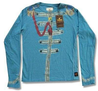 "The Beatles & Trunk Ltd Designer ""lonely Hearts"" Blue L/s Shirt Nwt Kids 2"