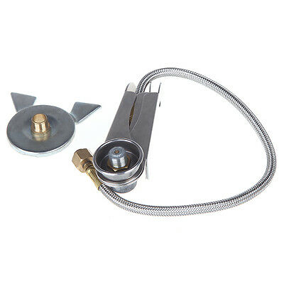SS Camping Hiking Cooking Gas Stove Adaptor Lengthened L Three-leg Transfer Head
